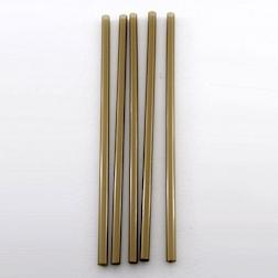 Cannuccia drinking straw plastica cm 13,5 oro