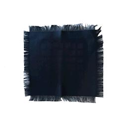 Frangino in cotone nero cm 33x33