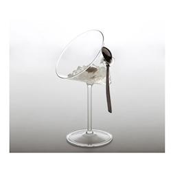 Coppa Dry Martini 100% Chef in vetro con cucchiaio