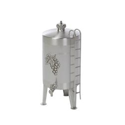 Dispenser vino liquori a botte acciaio inox lt 3