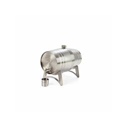 Dispenser vino liquori a botte acciaio inox lt 2,5