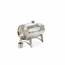 Dispenser vino liquori a botte acciaio inox lt 5