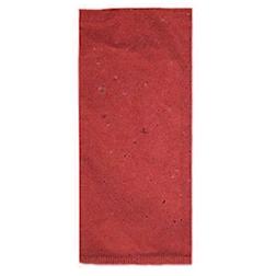 Busta portaposate in carta paglia bordeaux con tovagliolo bianco