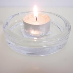 Piatto per candela in vetro cm 8
