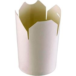 Contenitore monouso Wok Duni bianco chiudibile 29 pezzi