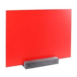 Lavagna Dag Style materiale plastico 21x30cm da tavolo rosso