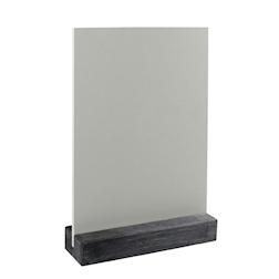 Lavagna Dag Style materiale plastico 15x21cm da tavolo argento