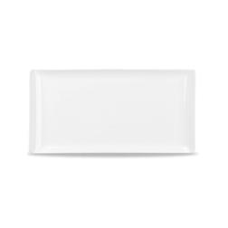 Vassoio Linea Buffet Churchill rettangolare in melamina bianco cm 53 x 32,5