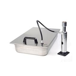 Coperchio gastronorm 1/1 con valvola per affumicatore acciaio