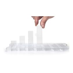 Pellicole quadrate 100% Chef in acrilico trasparente cm 4