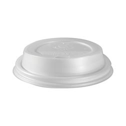 Coperchio monouso con fessura per bicchiere Duni CPLA 8 cm bianco