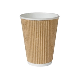 Bicchiere bibita monouso Triple wall Duni marrone chiaro 47 cl