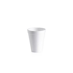 Bicchiere monouso bibita e cappuccio in polistirolo termico 35,5 cl bianco
