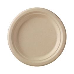 Piatto piano tondo monouso Duni in polpa di cellulosa marrone cm 18