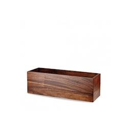 Alzata/scatola rettangolare Buffet Wood Churchill in legno di acacia marrone cm 47x15x15