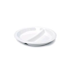 Piatto bis in porcellana bianca cm 25,5