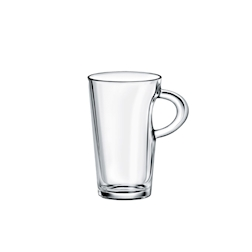 Bicchiere latte Elba in vetro cl 25