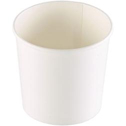 Coppette asporto monouso Soup Duni in cartone bianco cl 77
