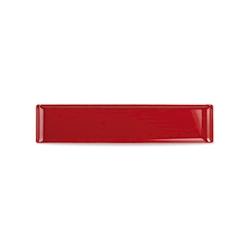 Vassoio Linea Buffet Churchill rettangolare in melamina rosso cm 46 x 10