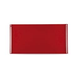 Vassoio Linea Buffet Churchill rettangolare in melamina rosso cm 53 x 32,5