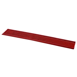 Tappetino,Bar mat gomma 70x11 cm rosso