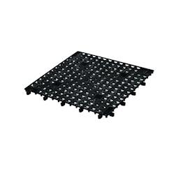 Versa mat plastica 33x33cm nero
