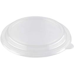 Coperchio monouso in pet trasparente per insalatiera Duni bianco cm 19