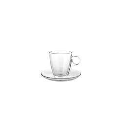Tazza caffè con piatto Cherie Pasabache in vetro cl 12,8