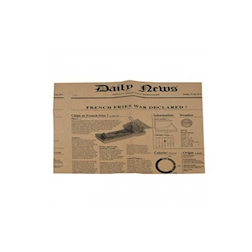 Foglio carta per asporto alimenti marrone fantasia Pagina Giornale cm 27 x 35