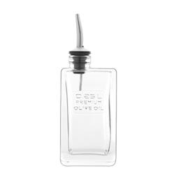 Bottiglia olio Optima Bormioli Luigi con tappo versatore lt 0,25