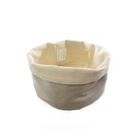 Porta pane tondo Paderno in cotone beige cm 17