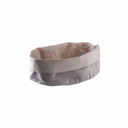 Porta pane ovale Paderno in cotone beige cm 20