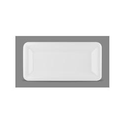 Vassoio rettangolare Linea Glide Churchill in ceramica vetrificata bianco cm 30x14