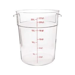 Contenitore tondo per alimenti in policarbonato lt 20,8