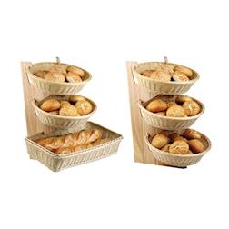 Espositore buffet Paderno con piani in legno
