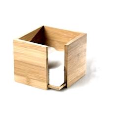 Portatovaglioli in bamboo naturale cm 14x14x10