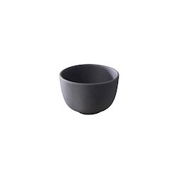 Coppetta XXS Basalt Revol in porcellana nera cm 5