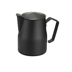 Lattiera Motta in acciaio inox nera 350 ml