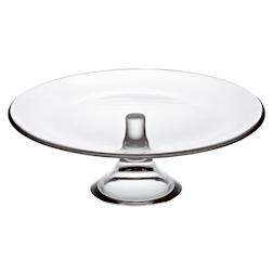 Alzata torta Banquet in vetro cm 28x11