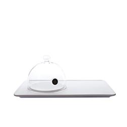 Vassoio rettangolare Aladin 100% Chef in porcellana 33x20
