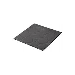 Piatto quadro Basalt Revol in porcellana nera cm 15x15