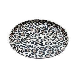 Vassoio antiscivolo rotondo leopardato cm 35
