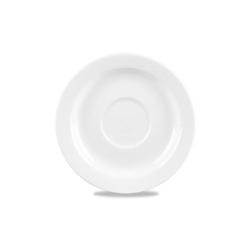 Piattino the Linea Profile Churchill in ceramica vetrificata bianco cm 15