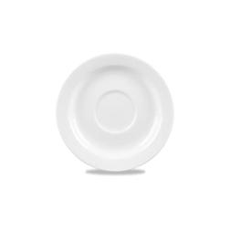 Piattino caffè Profile Churchill in ceramica vetrificata bianco cm 12,8