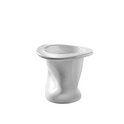 Bicchiere contenitore Tanto di cappello in porcellana bianca cl 55