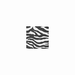 Tovagliolo in airwave zebrato nero cm 24x24