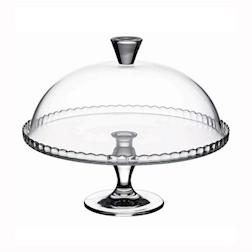 Alzata per torta Pasabahce Patisserie con cupola in vetro cm 32