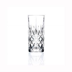 Bicchiere RCR Melodia tumbler in cristallo lavorato cl 35