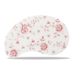 Inserto per vassoio legno Churchill ceramica vetrificata rosa 26,5x17 cm