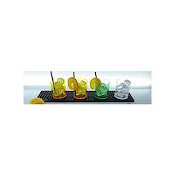 Maxi bar mat in pvc nero cm 57x12